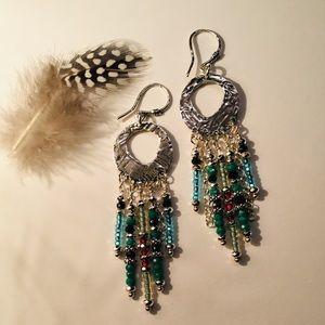 Handcrafted Sterling & Bead Earrings